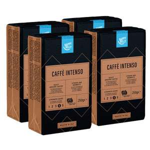 "Add-On Item, Happy Belly Ground Coffee ""Caffè Intenso"" (4 x 250g), UTZ Certified, £5.30 One Time Purchase/£4.77 S&S (+ £4.49 Prime) @ Amazon"
