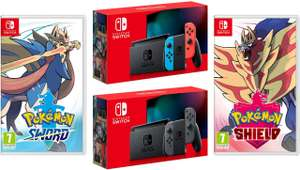 Nintendo Switch (Neon Red/Neon blue) + Pokemon Sword & Shield - £368.89 @ Amazon