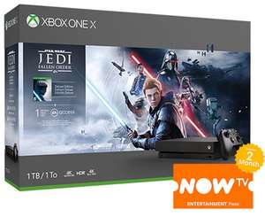 Xbox One X console with Star Wars Jedi: Fallen Order (+2 months NOW TV Entertainment Pass) - £299.99 - Game