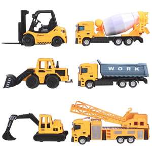 deAO 6 Die Cast Construction Trucks Play Set £10.19 at Amazon (+£4.49 non prime) - Sold by LittleOrangeTech / Fulfilled by Amazon