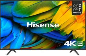 """HISENSE H50B7100UK 50"""" Smart 4K Ultra HD HDR LED TV + 2 Year Warranty - £284.05 with code delivered @ Currys eBay"""