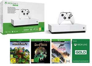 Microsoft Xbox One S All Digital 1TB+(Minecraft + Sea of Thieves + Forza Horizon 3) + 1 Month Gold Membership for £120.93 @ Amazon FR