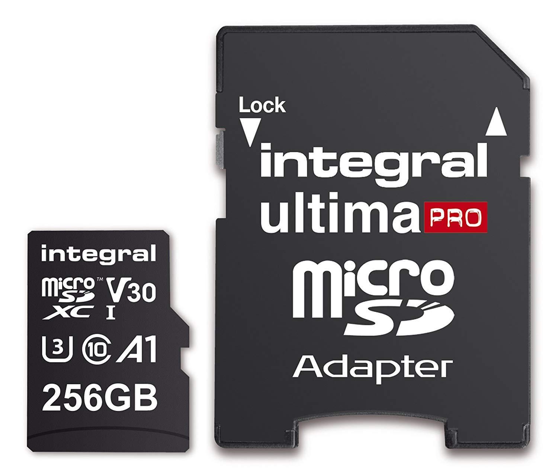Integral 256GB Micro SD Card Premium 4K Microsdxc Up To 100MB/S V30 UHS-I U3 for £21.48/128Gb for £11.97/64GB for £7.50 @ Amazon UK