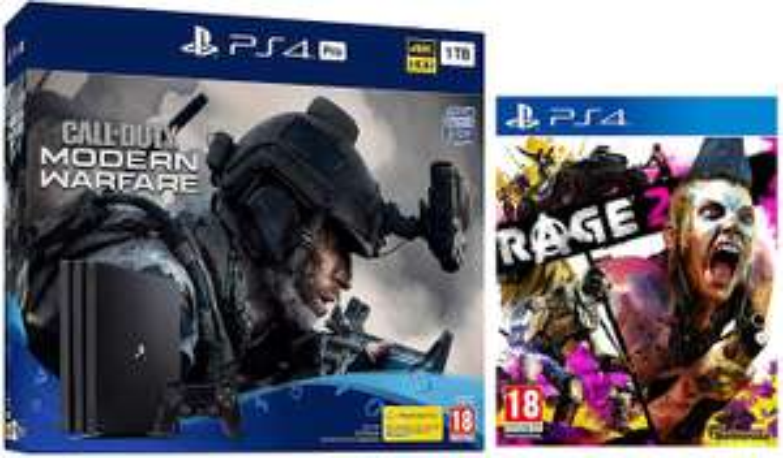 Sony Playstation PS4 Pro 1TB: Call Of Duty Modern Warfare Bundle + Rage 2 - £309.99 at Amazon.
