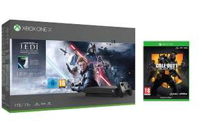 Xbox One X + Star Wars Fallen Jedi + COD Black OPS + Game Pass Ultimate £324.74 Amazon