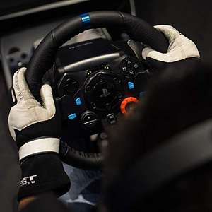 Logitech G920 Driving Force Racing Wheel with Pedals, Realistic Force Return Stainless Steel at Amazon Fr for £135.32
