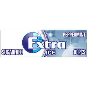 Wrigley's Extra Ice Peppermint Sugarfree Gum with Microgranules 10 Pieces (Pack of 30) £6.49 (Prime) / £10.98 (non Prime) at Amazon