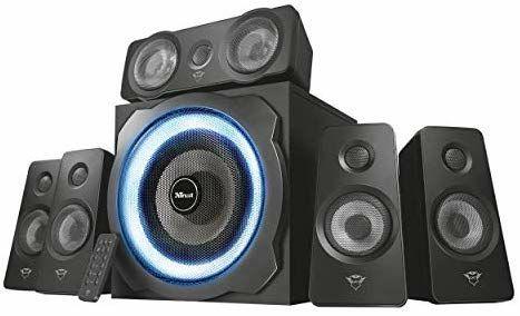 Trust Gaming GXT 658 Tytan 5.1 surround PC speaker set with remote control (180 watt, LED lighting) Black £81.39 Amazon Germany