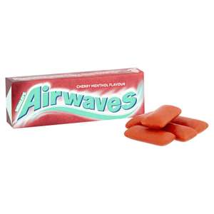 Wrigley's Airwaves Cherry Menthol Flavour Sugarfree Chewing Gum 10 Pieces (Pack of 30) £7.99 (Prime) / £12.48 (non Prime) at Amazon