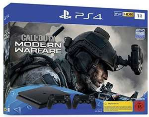 PlayStation 4 Slim incl. 2 Controllers and Call of Duty: Modern Warfare - Console Bundle (1TB, black, slim) £230.46 Amazon Germany