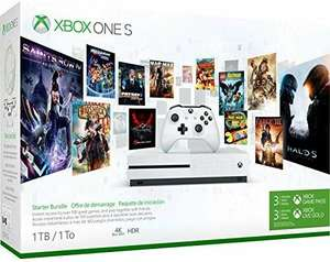 Xbox One S 1TB Console - Starter Bundle incl. 3 Month Xbox Game Pass + 3 Month Live Gold £159.02 (£153.10 with a fee free card) @ Amazon DE