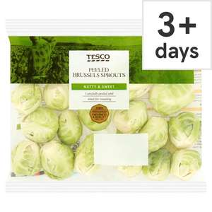 Peeled Brussels Sprouts 200G £0.49 / Tesco Finest All-Rounder Potatoes 1.75Kg £1 / Kanzi Apple (Min 5) £1 / Broccoli Tips 120G £0.69 @ Tesco