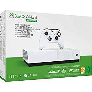 Xbox One S 1TB All-Digital + 1 month Live + Forza Horizon 3 + Sea of Thieves + Minecraft £118.76 from Amazon Spain (or £114.26 fee free)