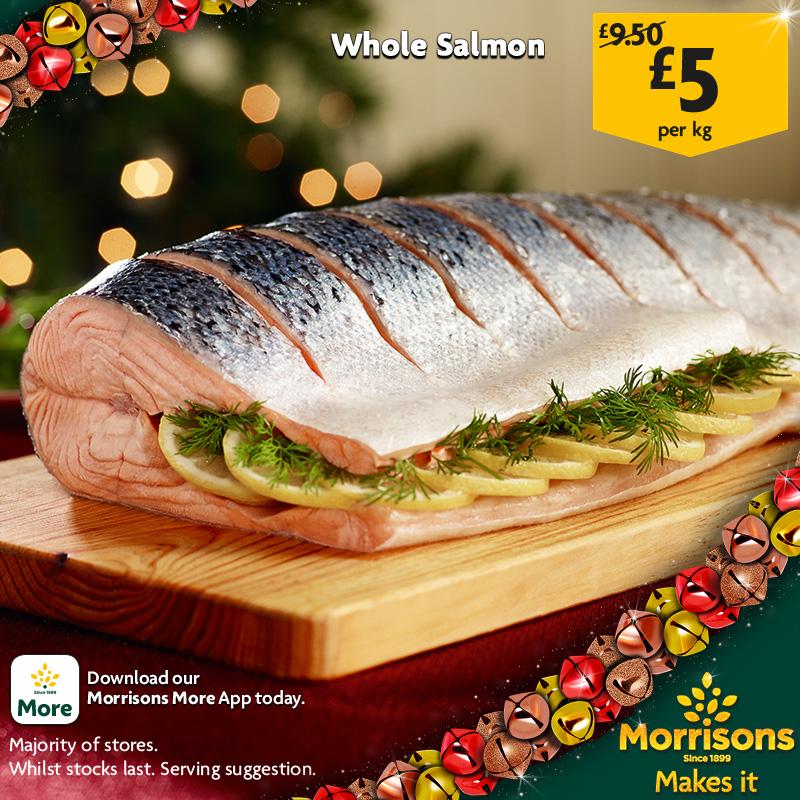 Morrisons Whole Salmon £5 a kg