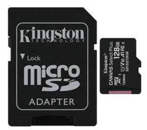 Kingston Canvas Select Plus 128GB A1 microSDXC Card 100MB/s Read (16-20MB/s Write*) + SD Adapter for £10.99 Delivered @ Base