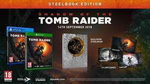 Shadow Of The Tomb Raider Steelbook + Art Cards (PS4) @ Coolshop