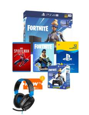 Playstation 4 Pro 1TB, 12 months PSN, Fornite Neo Versa Controller Bundle, Spider-man, 2 Months Now Tv, Turtle Beach 70p Headset £299 @ Game