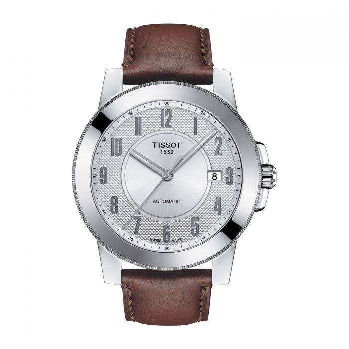 EX DISPLAY TISSOT T-SPORT Gentleman SWISSMATIC Stainless-Steel Brown Leather Men's Watch, £235 Fraser Hart