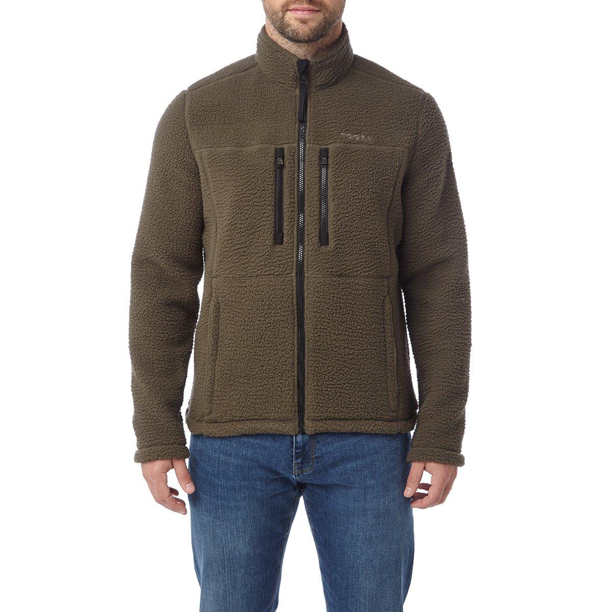 Tog24 Leonard Mens Sherpa Fleece Jacket Navy/dark kahki - £24 @ Dispatched from and sold by TOG24