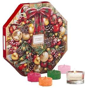 Yankee Candle Advent Calendar with 24 Scented Tea Lights and 1 Glass Tea Light Holde £17.99 @ Amazon (+£4.49 Non-prime)