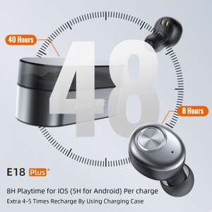 ENACFIRE Wireless Headphones, E18 Plus - £31.99 / E18 - £23.99 Delivered - Sold by Mingchuyang and Fulfilled by Amazon