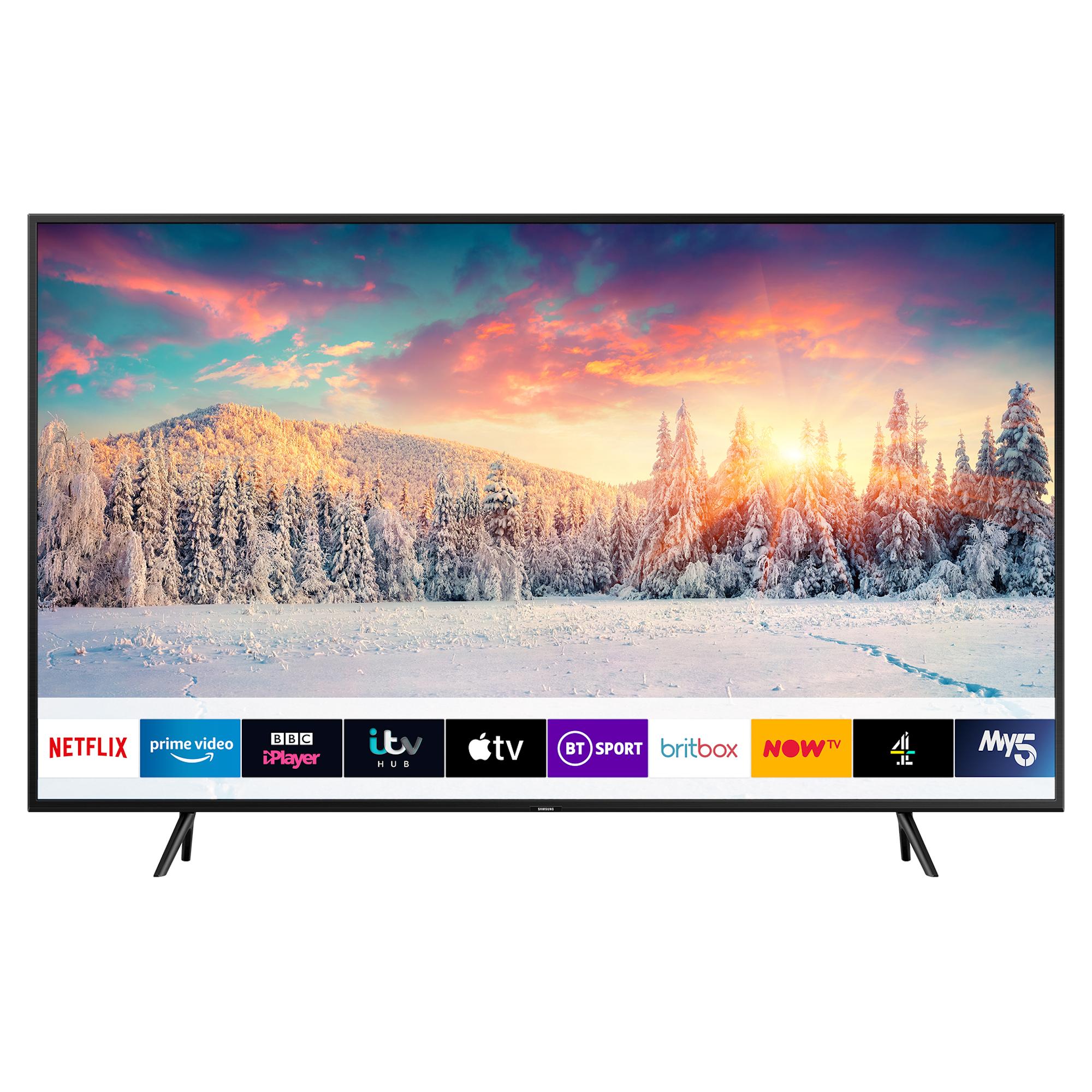 "Samsung QE55Q60R (2019) QLED HDR 4K Ultra HD Smart TV, 55"" TVPlus/Freesat HD & Apple TV App, Charcoal Black 5 Year Guarantee £659 Hughes"