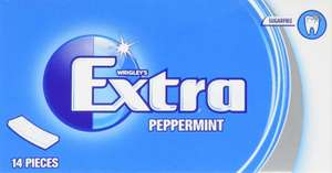 Wrigley's Extra Peppermint Sugarfree Chewing Gum 14 Pieces x 12 Pack £4.99 at Amazon (+£4.49 non prime)