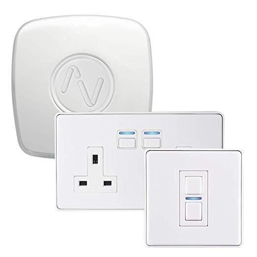 Lightwave Smart Lighting & Power Starter Kit - White - £189 @ AO