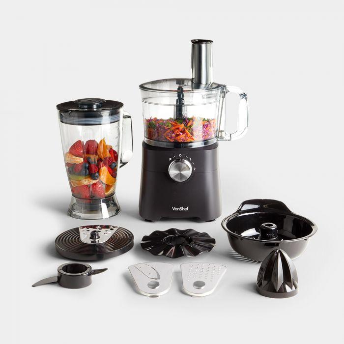 750W Food Processor - Liquidise / Shred / Juice / Grate / Slice / Mix - £38.39 Delivered @ VonShef