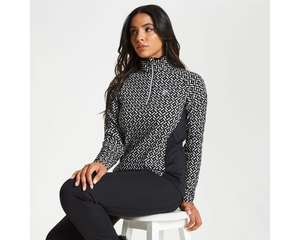 Extra 20% off Women's Confirm Patterned Half Zip Luxe Stretch Midlayer Black White Top £27.87 Delivered w/code @ Dare2b
