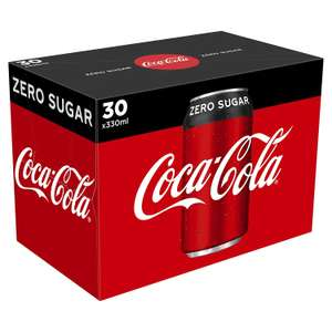 Coca-Cola Zero Sugar 30 x 330ml Cans only £7.50 @ Amazon Fresh Pantry (£3.99 Delivery)