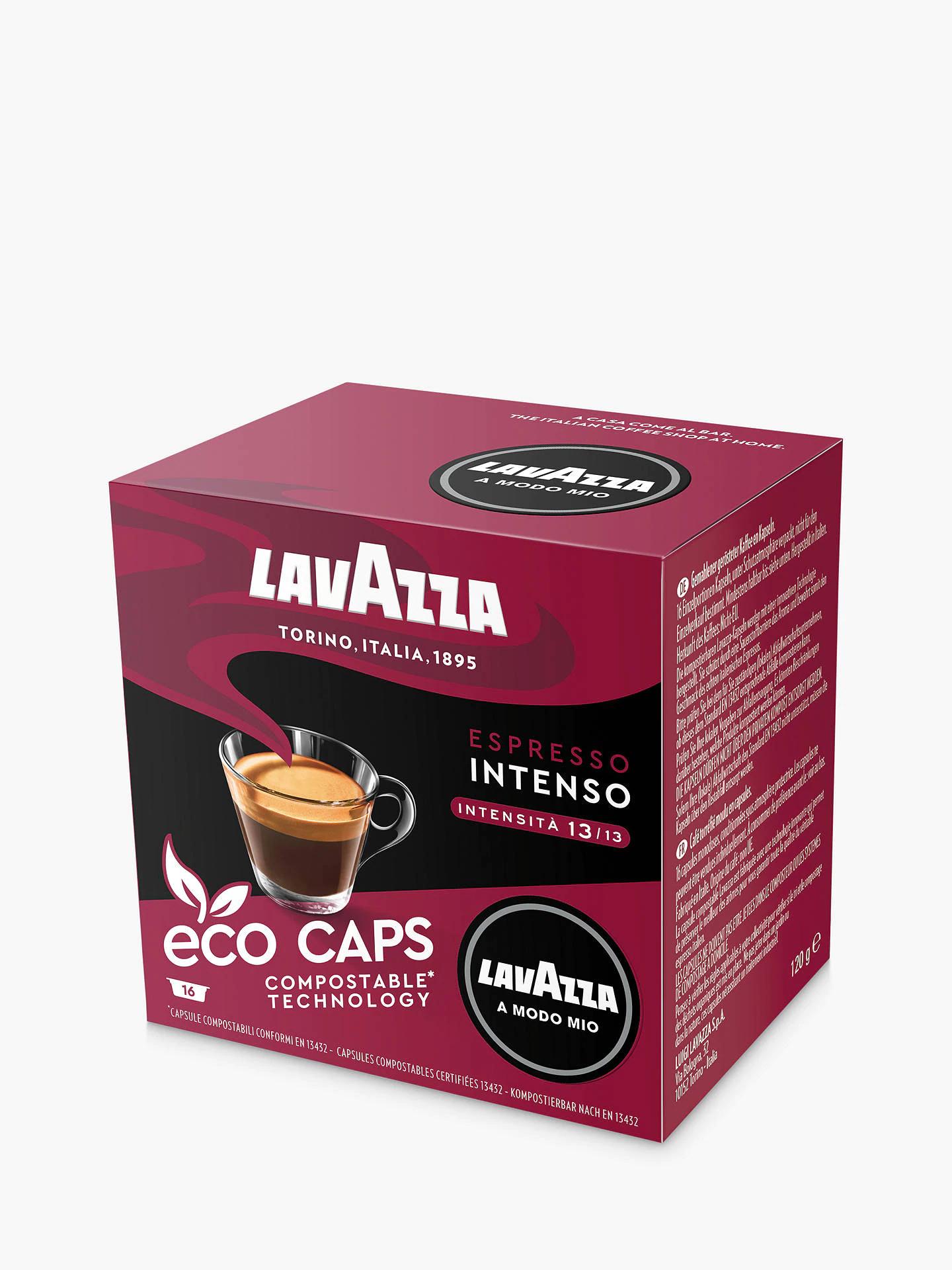 Lavazza Intenso A Modo Mio Espresso Eco Capsules, Pack of 16 £3.40 @ John Lewis & Partners