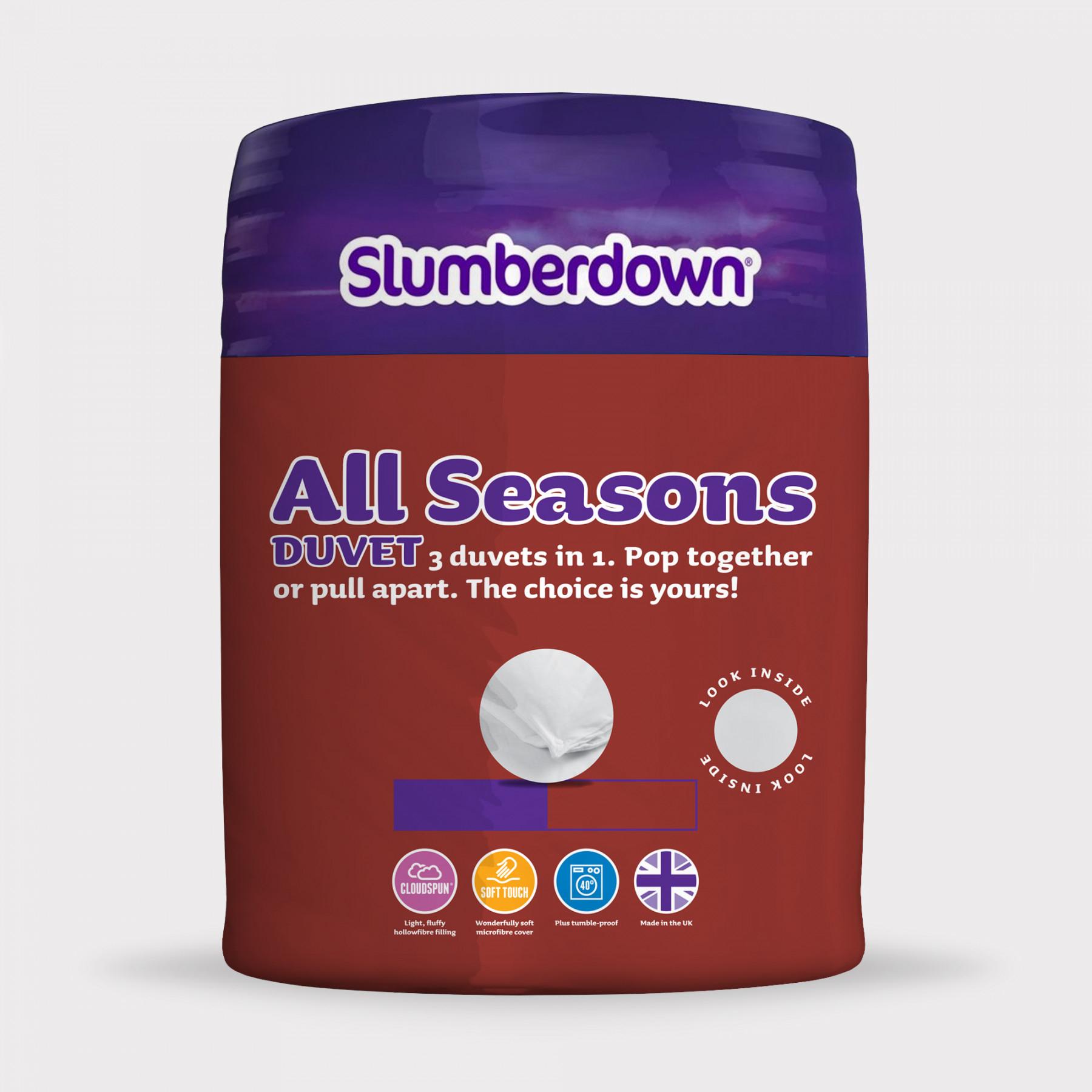 Slumberdown 3-in-1 all season duvet 13.5 Tog for £10 delivered @ SleepSeeker
