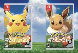 Pokemon let's go Pikachu and Eevee Switch £22 Instore at Tesco