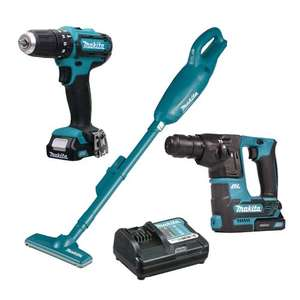 Makita 108PK1 10.8v CXT 3 Piece Pack with 2 x 1.5Ah Batteries and Charger - £179.99 @ ITS