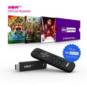 Now TV Smart Stick with 1 Months Sky Movies + 2 Months Entertainment and 1 Day Sky Sports £14.38 @ Costco (Edinburgh)