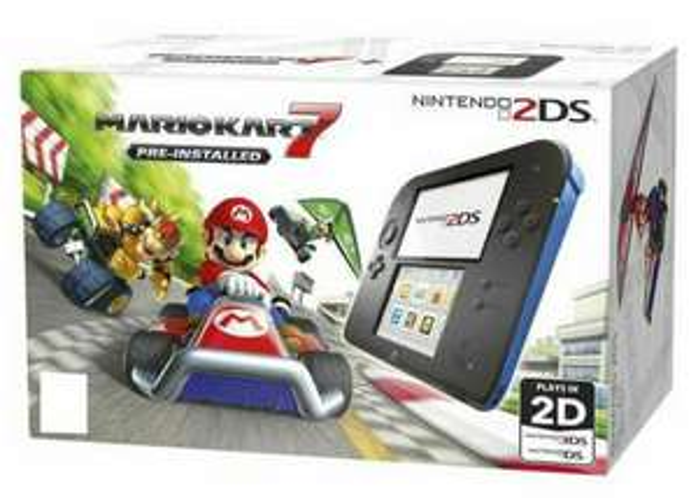 Nintendo 2ds - Black/blue With Mario Kart 7 £49 at Tesco Hamilton Leicester