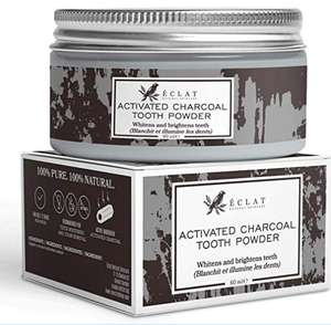 Charcoal Teeth Whitening Powder by Eclat 100% Organic Vegan Activated Charcoal - £5.24 (Prime or + £4.49 NP) @ Sold by Eclat Beauty and FBA
