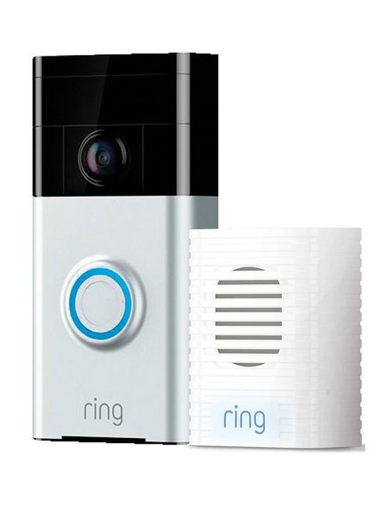 RING Video Doorbell 1 & Chime Bundle - Satin Nickel £99 @ Very