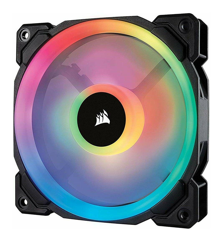 Corsair CO-9050071-WW LL120 120 mm Dual Light Loop RGB LED PWM Fan - Black £16.98 Prime / £21.47 Non Prime at Amazon
