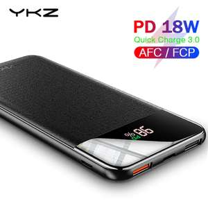 YKZ Quick Charge 3.0 Power Bank 10000mAh for £7.74 delivered @ AliExpress / YKZ Official Store