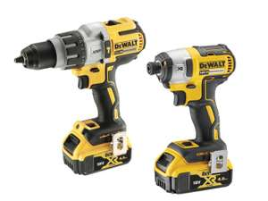 DeWalt DCK276M2T XR 3 Speed Twin Kit 18V 2 x 4.0Ah Li-ion @ FFX