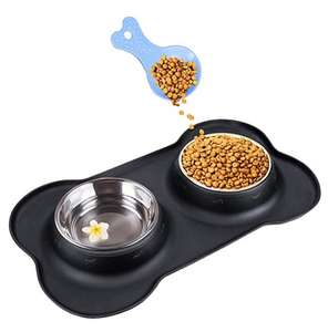 Double dog bowl £8.32 Prime / £12.81 non prime Sold by onarway-UK and Fulfilled by Amazon