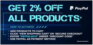 2% All Products when paying with paypal @ CDkeys