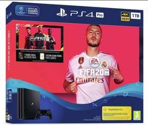 PS4 Pro Fifa 20 Bundle + Any DS4 Controller + Jumanji Film or Spider-Man Homecoming £329.99 @ Argos