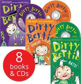 Dirty Bertie Book and CD collection £9.99 + £2.96pp @ The Book People