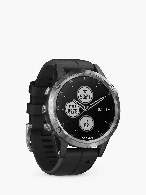 Garmin fēnix 5 Plus GPS Multisport Watch, Silver with Black Band, 4.7cm £399.99 @ John Lewis & Partners