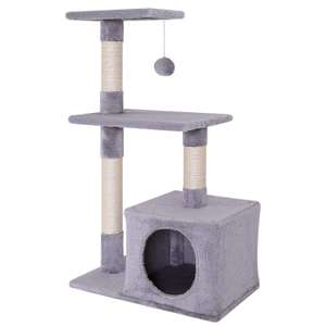 Dibea Cat Tree, 80cm - £10.25 + £4.49 delivery NP @ Amazon Warehouse (Used - very good condition, new is £30.70)
