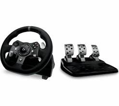 Used: Logitech g920 driving force racing wheel and peddles (eu plug) used vg £93.61 @ Amazon UK