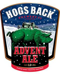 Hogs Back Advent Ale 4.4% 50cl Lidl £1.59